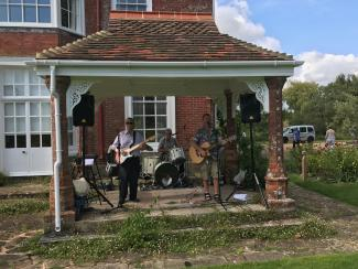 Band at Open Day at Newtimber Place