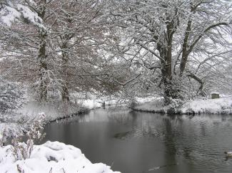 Newtimber Place Moat in Winter